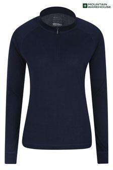 Mountain Warehouse Talus Womens Long Sleeved Zip Neck Top
