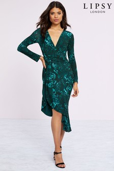 Lipsy Baylie Print Jersey Bodycon Dress