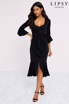 Lipsy Jersey Wrap Frill Dress