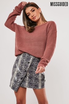 Missguided Off The Shoulder Jumper