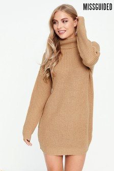 Missguided Roll Neck Basic Dress