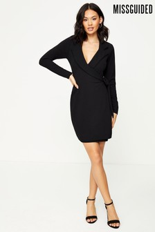 Missguided Blazer Tie Side Dress Crepe