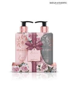 Baylis & Harding Boudoire Velvet Rose & Cashmere 2 Bottle Set