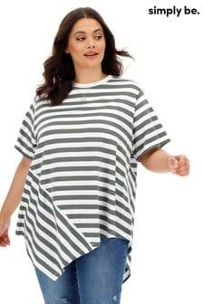 Simply Be Asymmetrisches T-Shirt