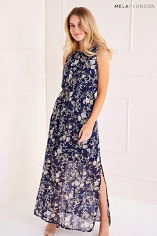Mela London Daisy Blossom High Neck Maxi Dress