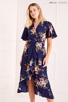 Mela London Floral Printed Maxi Dress