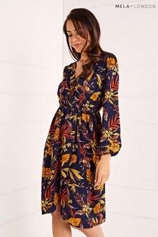 Mela London Long Sleeve Autumn Floral Dress