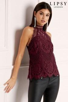 Lipsy VIP Lace Halterneck Top