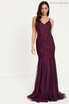 Maya Delicate Sequin Fishtail Cami Maxi Dress