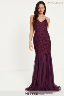 Maya Petite Delicate Sequin Fishtail Cami Maxi Dress