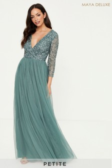 Maya Petite Embellished Maxi Dress