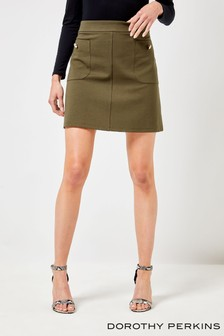 Dorothy Perkins Button Pocket Mini Skirt