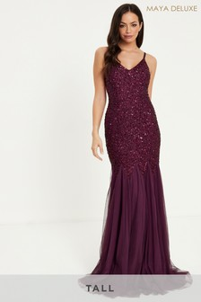 Maya Tall Sequin Fishtail Maxi Dress