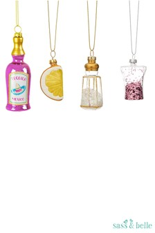Sass & Belle Tequila Christmas Bauble Set