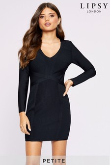 Lipsy Petite Long Sleeve Bandage Dress