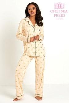 Chelsea Peers Langes Pyjama-Set mit Folienmuster
