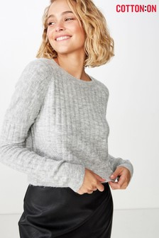 Cotton On Lexi Raglan Rib Pullover