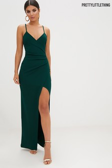 PrettyLittleThing Wrap Front Crepe Maxi Dress