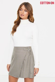 Cotton On Woven Check Mini Skirt