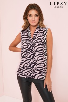 Lipsy Sleeveless Tie Neck Top