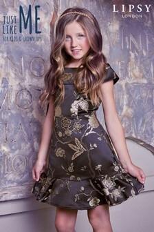 Платье с жаккардовым рисунком с эффектом металлик Lipsy Girl
