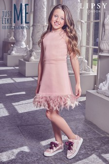 Lipsy Girl Feather Hem Dress