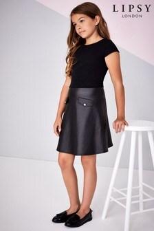 שמלת2 ב 1 מעור מלאכותי לבנות שלLipsy