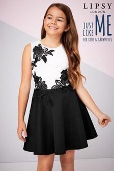 Lipsy Girl Placement Lace Scuba Dress