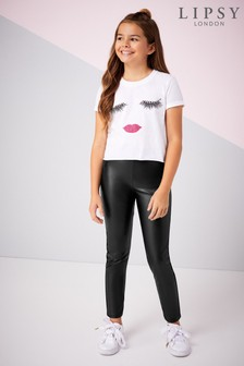 Lipsy Girl PU Panel Legging