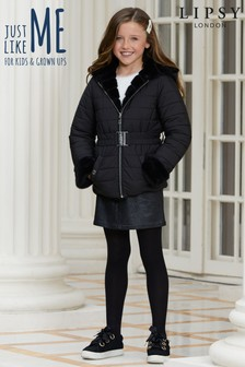 Lipsy Girl Reversible Faux Fur Belted Coat