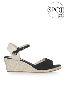 Spot On Canvas Espadrille Wedge