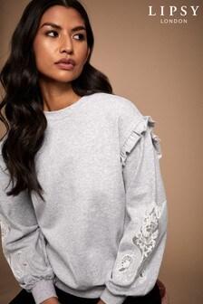 Lipsy Lace Arm Sweater
