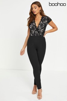 Boohoo Lace Top Slim Jumpsuit