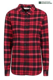 Mountain Warehouse Balsam Womens Brushed Long Line Flannel Shirt