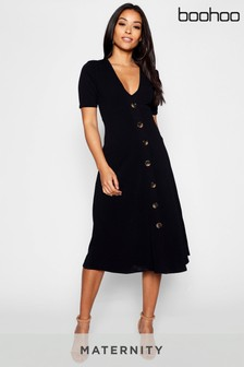 Boohoo Maternity Button Detail Dress