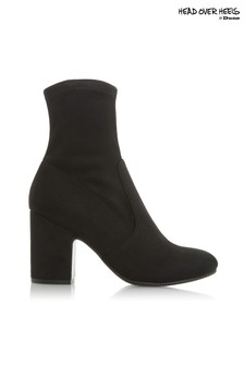 Head Over Heels Round Toe Ankle Boots