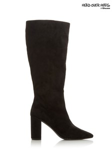 Head Over Heels Block Heel Under Knee Boots