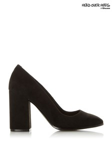 Head Over Heels Square Toe Court Block Heels