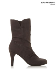 Head Over Heels Ruched Round Toe Boots