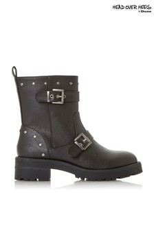 Head Over Heels Buckle Biker Boot