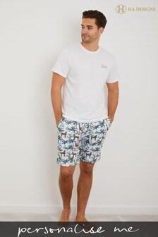 Personalised HA Sleep Mens Pyjama Set by HA Design