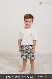 Personalised HA Mini Boys Pyjama Set by HA Design