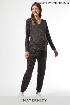 Dorothy Perkins Maternity Charcoal Brushed Wrap Top