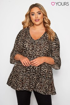 Yours Curve Animal Print Smock Blouse