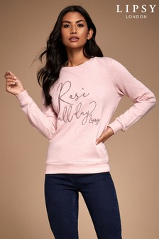 Lipsy Rose All Day Sweat Top