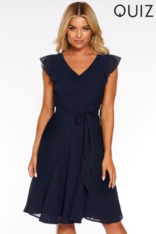 Quiz Frill Sleeve Ruffle Dress
