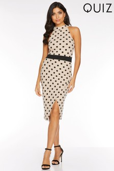 Quiz Polka Dot Midi Wrap Dress