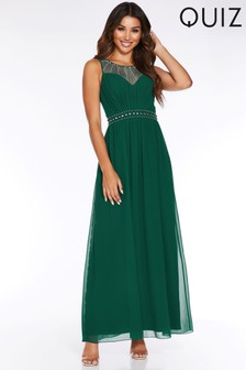 Quiz Embellished Sweetheart Neckline Maxi Dress