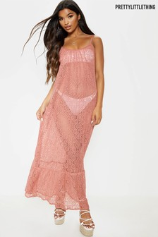 PrettyLittleThing Circle Crochet Beach Dress