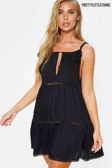 PrettyLittleThing Croc Strap Beach Dress